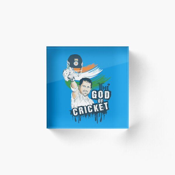 Sachin God of Cricket Acrylic Block
