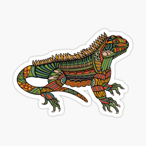 Spiritual Iguana - Magical & Ornamental Reptile Sticker