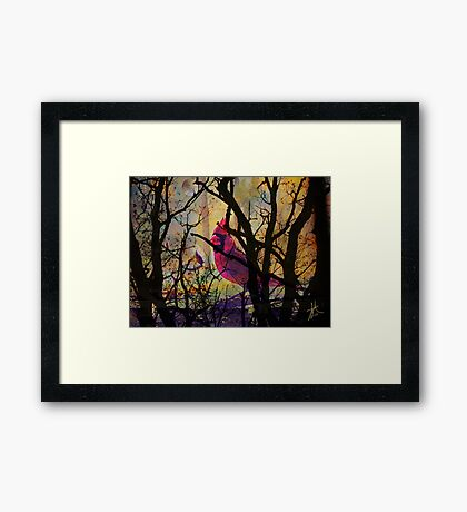 Hiding in the Woods Framed Print