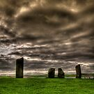 Standing Stones of Stennes, Orkney by Gabor Pozsgai