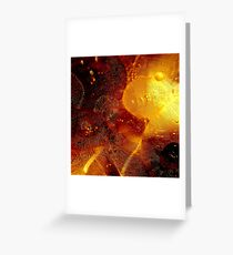 Oil bubbles Greeting Card