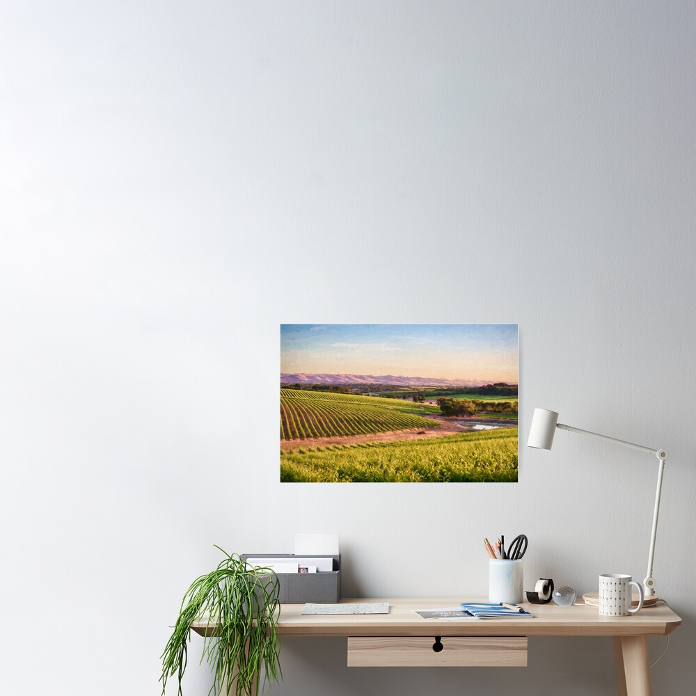 McLaren Vale Magic (digital painting) Poster