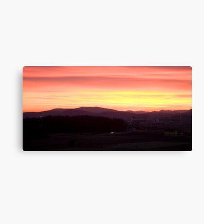 Sunset over Ljubljana Canvas Print