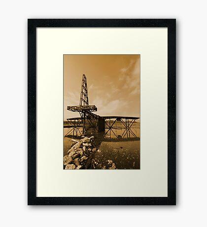 Fireplane - Greenham Common Framed Print