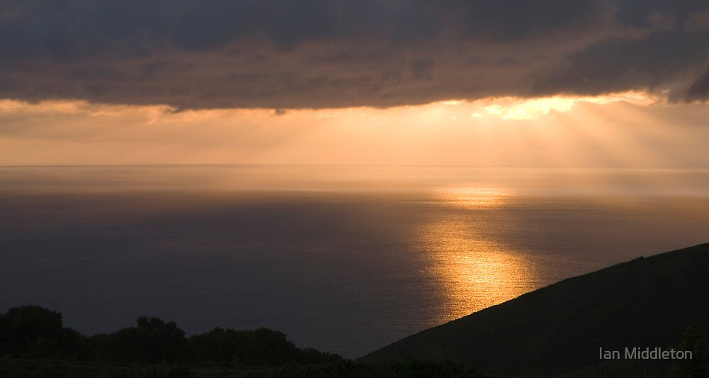 Exmoor coast at sunset by Ian Middleton