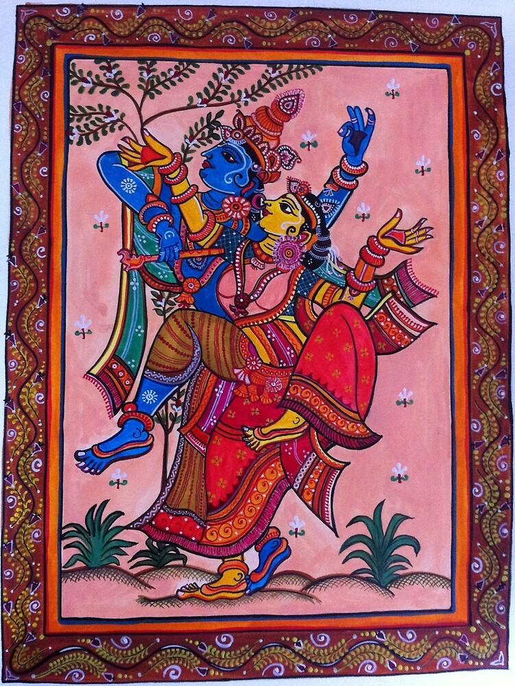 Water Colour based exotic Indian Painting- Patta Chitra by Priya  Naresh