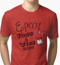 Epcot Food and Wine Festival Minnie Mouse Tri-blend T-Shirt
