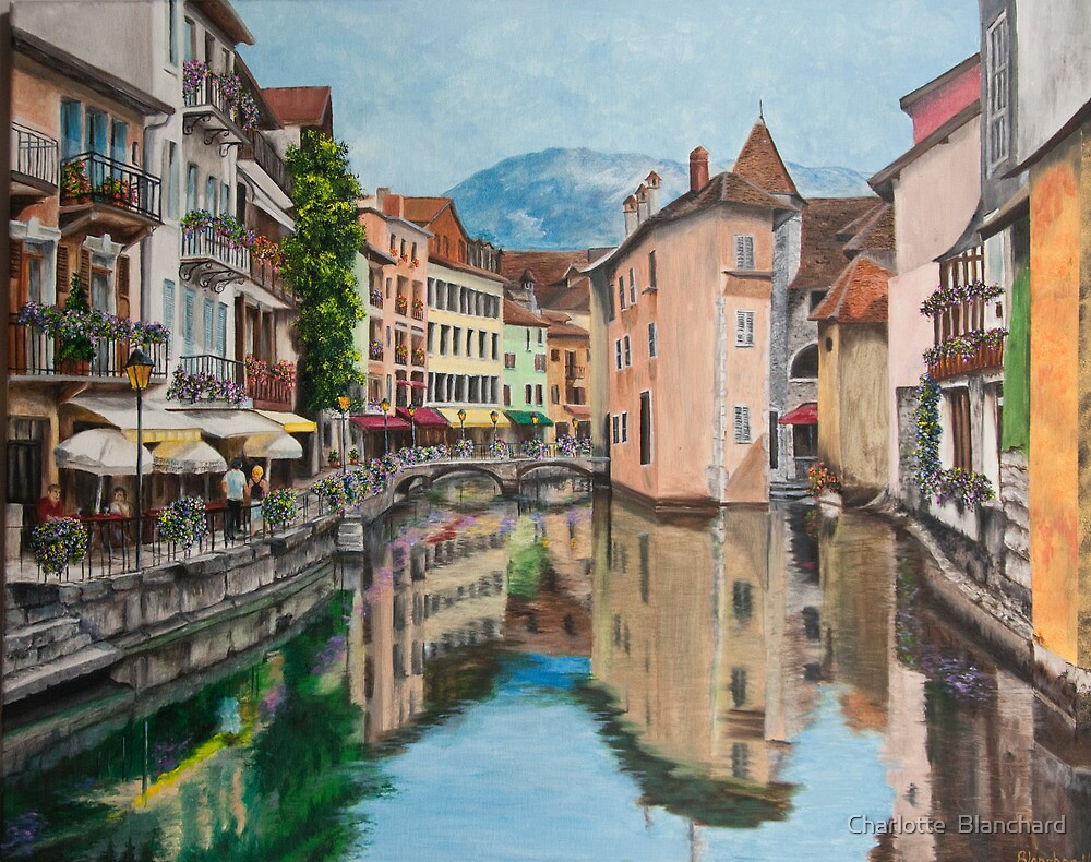 Reflections of Annecy by Charlotte  Blanchard