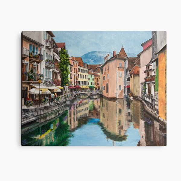 Réflexions d'Annecy Impression sur toile