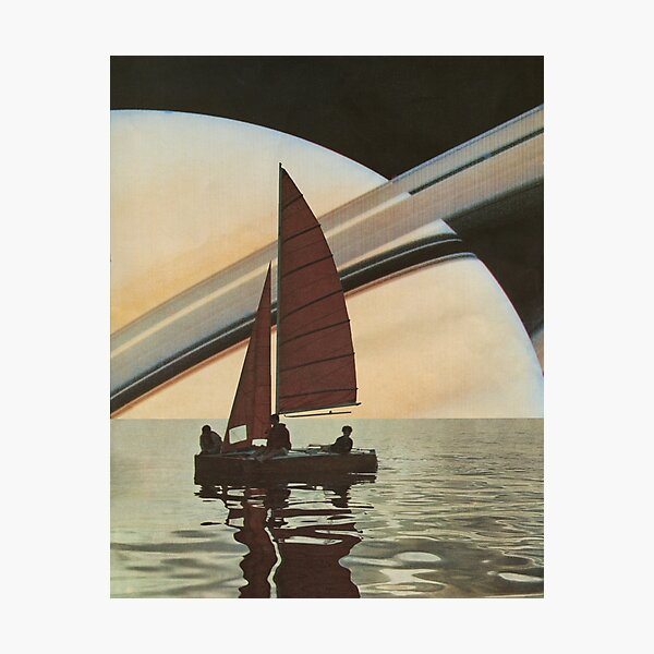 Sailing to Saturn Photographic Print