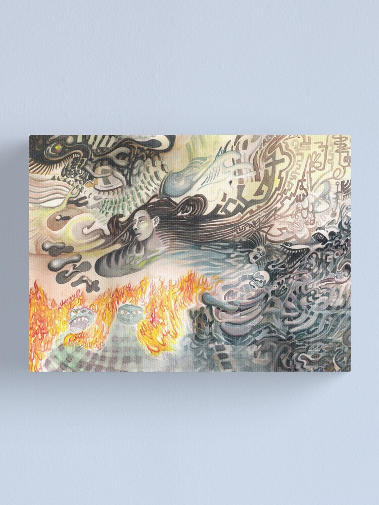 Alternate view of Thoughts Simmering in Flame Canvas Print