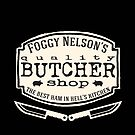 Foggy Nelson's Butcher Shop - Best Ham In Hell's Kitchen  by scarletprophesy