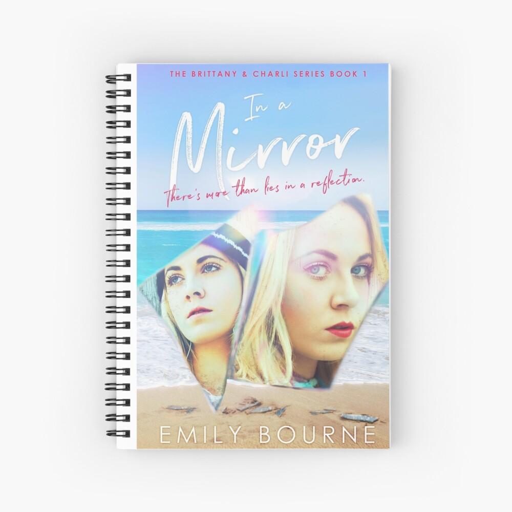 In A Mirror - Book Cover- Notebook Spiral Notebook