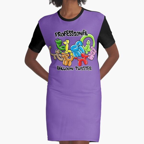 Professional Balloon Twister Graphic T-Shirt Dress