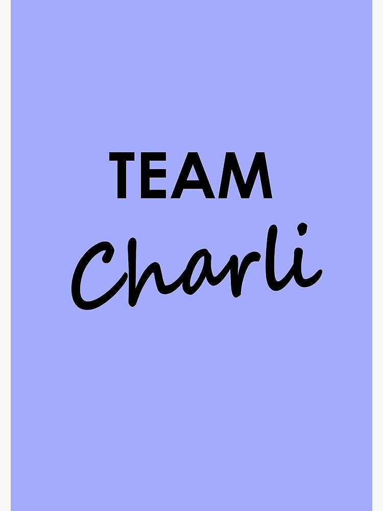 Team Charli - Notebook by embourne