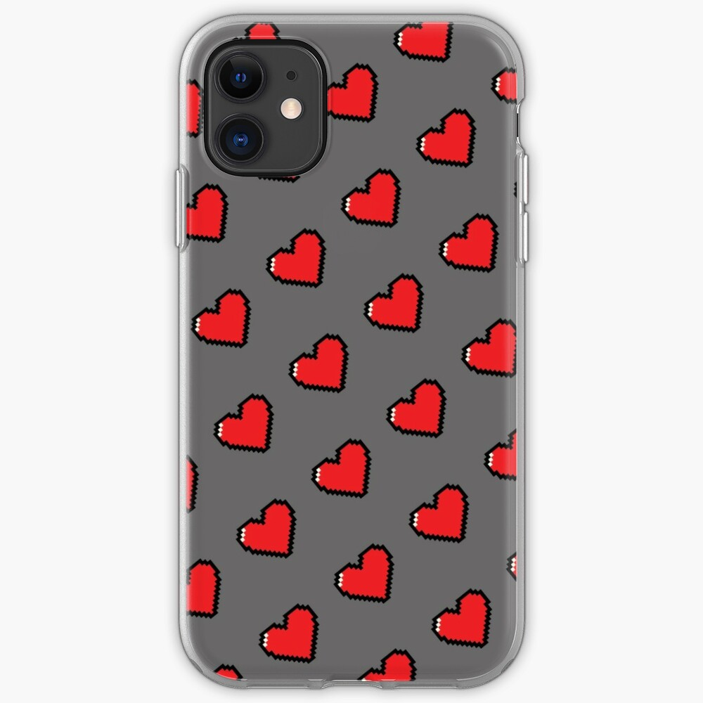 Digital Hearts Pattern iPhone Case & Cover