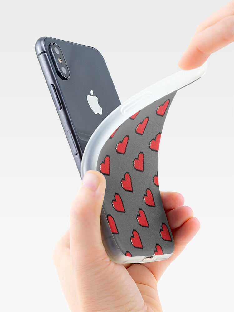 Alternate view of Digital Hearts Pattern iPhone Case & Cover