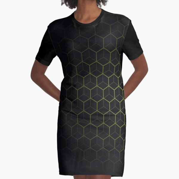 Very Cool, Super Awesome and kind of Pretty Amazing Abstract Pattern Graphic T-Shirt Dress