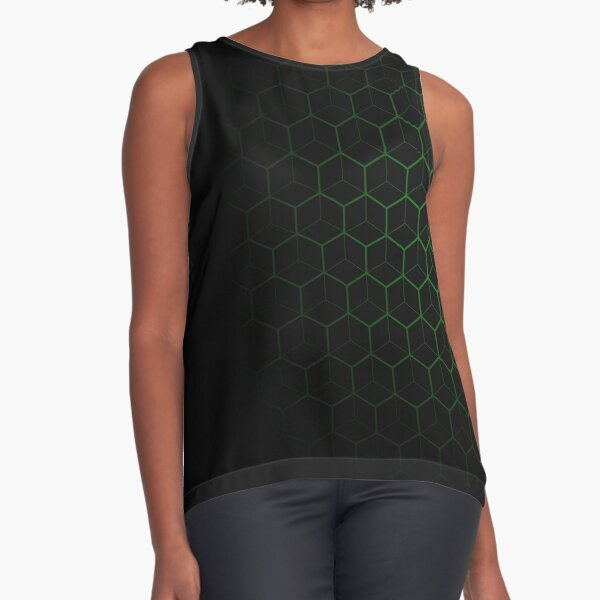 Very Cool, Super Awesome and kind of Pretty Amazing Abstract Pattern Sleeveless Top