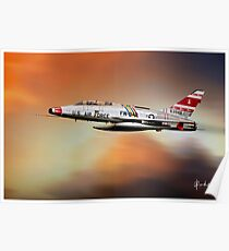 F-100F at Sunset Poster