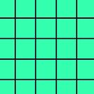 Mint & Black Graph Grid Illusion by EvePenman