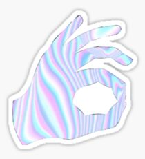Holographic Ok Emoji Hand Sticker