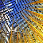 Blue Sky, Yellow Cables by SuddenJim