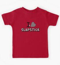 I love slapstick in black and white Kids Tee
