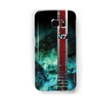 N7 Battle Damaged Galaxy Armor Stripe Samsung Galaxy Case/Skin