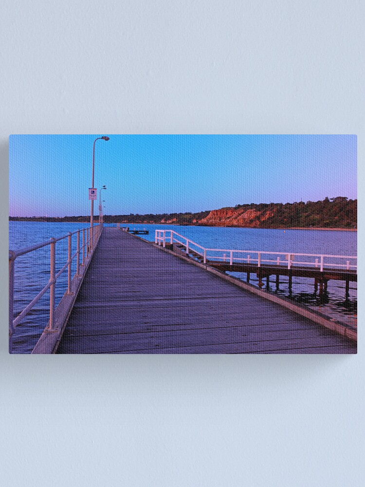 Alternate view of Half Moon Bay Jetty Canvas Print