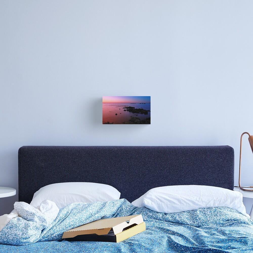Evening Twilight - Half Moon Bay, Black Rock Canvas Print