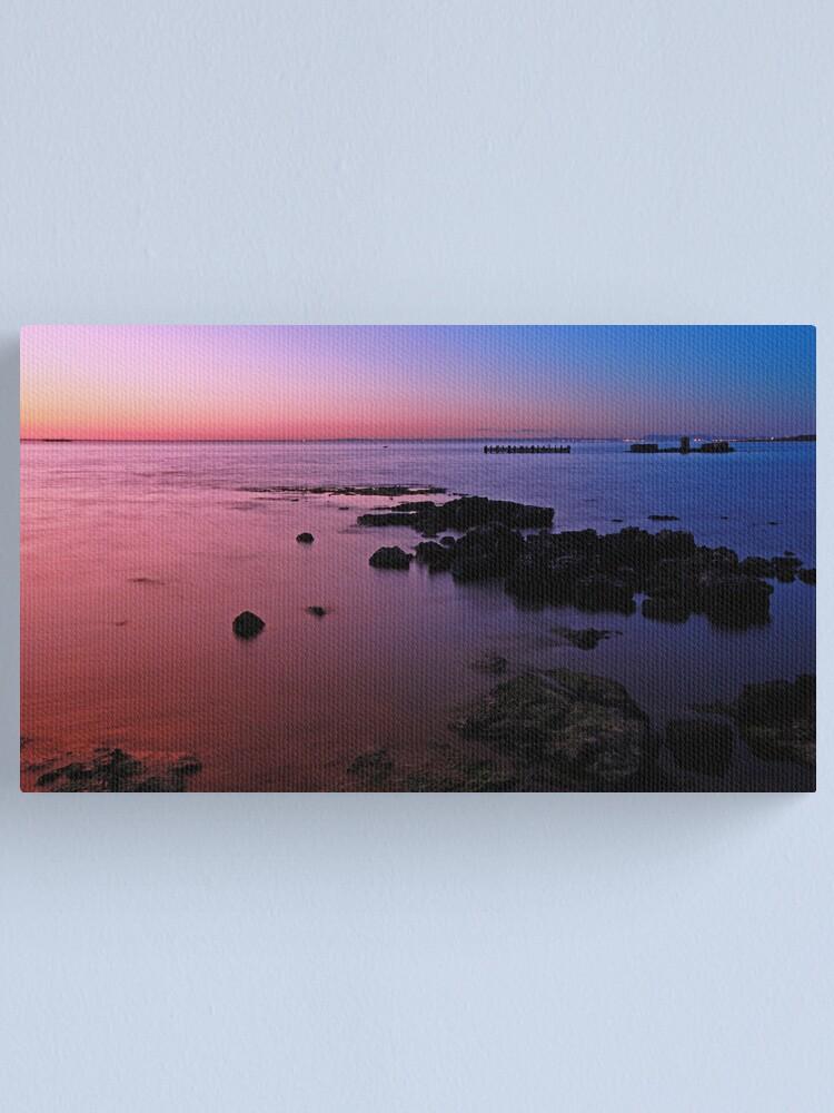 Alternate view of Evening Twilight - Half Moon Bay, Black Rock Canvas Print