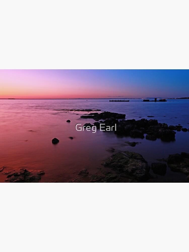 Evening Twilight - Half Moon Bay, Black Rock by GregEarl