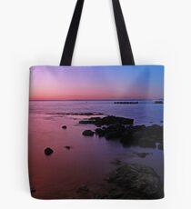 Evening Twilight - Half Moon Bay, Black Rock Tote Bag