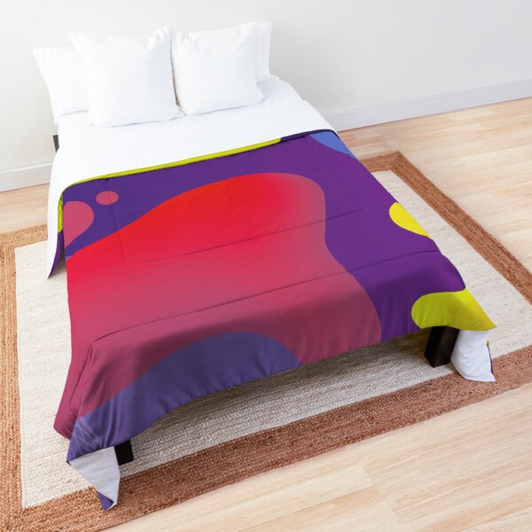 Very Cool, Super Awesome and kind of Pretty Amazing Colorful Abstract Pattern Comforter