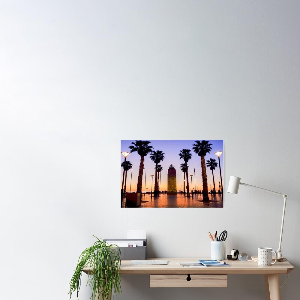 Glenelg Sunset Poster