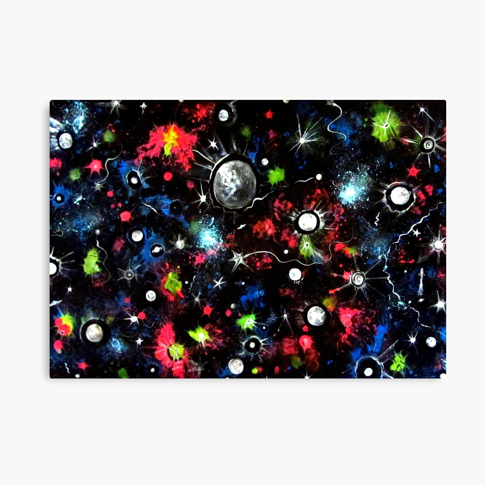 To the Moon and Beyond - Abstract Canvas Print