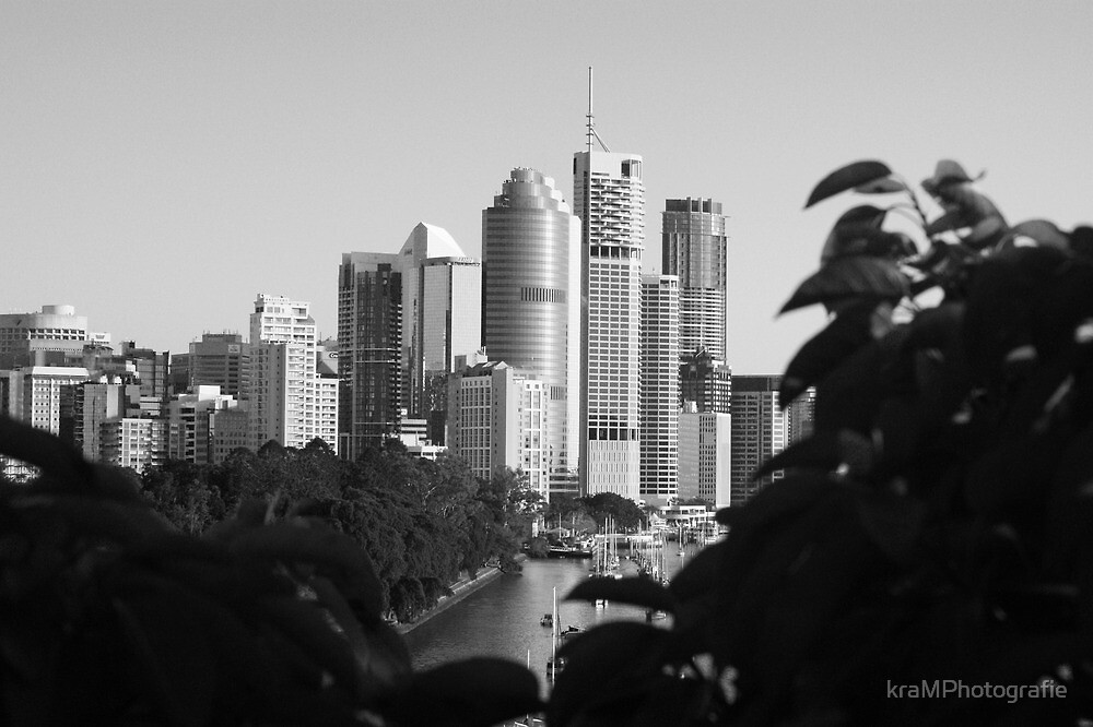 City through the trees by kraMPhotografie