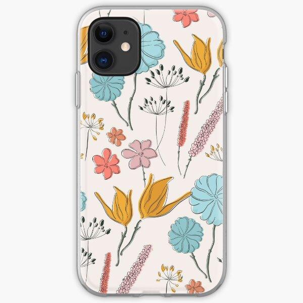 Summer flower print iPhone Soft Case