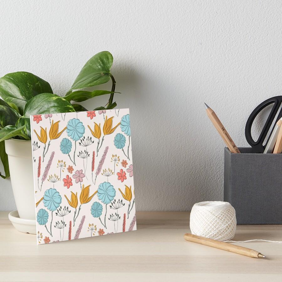 Summer flower print Art Board Print