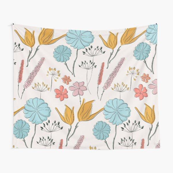 Summer flower print Tapestry