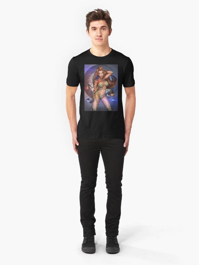 Alternate view of Symbiotic Armor Warrior Slim Fit T-Shirt