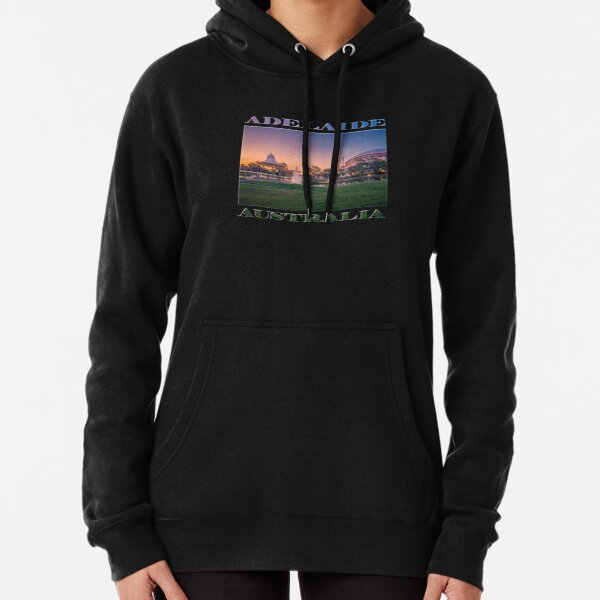 Adelaide Sunset (poster on black) Pullover Hoodie