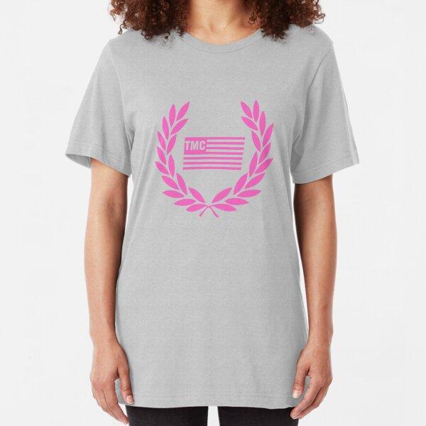 Nipsey Hussle RIP pink tee Slim Fit T-Shirt