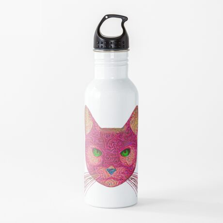 Rose Hungry Cat Water Bottle