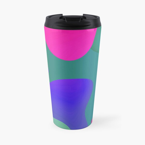 Very Cool, Super Awesome and kind of Pretty Amazing Colorful Abstract Pattern Travel Mug