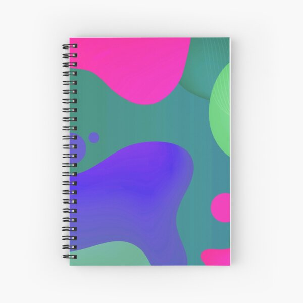 Very Cool, Super Awesome and kind of Pretty Amazing Colorful Abstract Pattern Spiral Notebook