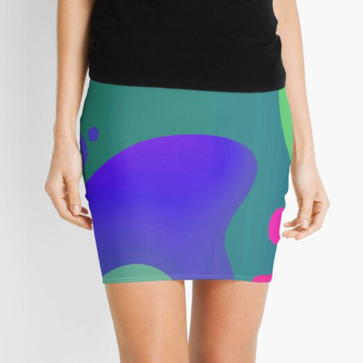 Very Cool, Super Awesome and kind of Pretty Amazing Colorful Abstract Pattern Mini Skirt