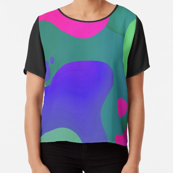Very Cool, Super Awesome and kind of Pretty Amazing Colorful Abstract Pattern Chiffon Top