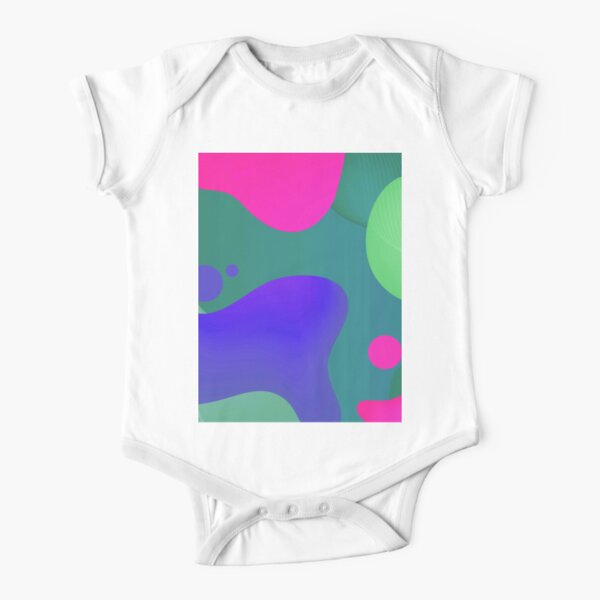 Very Cool, Super Awesome and kind of Pretty Amazing Colorful Abstract Pattern Short Sleeve Baby One-Piece